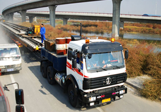 湖南长沙市政工程――大型桥梁运输