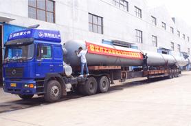 甘肃华亭中煦煤化工公司――化工机械设备罐体运输
