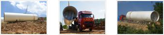 湖南风电塔筒运输装车图