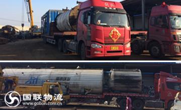 国联物流沥青设备搬迁运输途中剪影